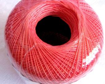 Aunt Lydias Classic Crochet Cotton Thread, size 10, CORAL, 275