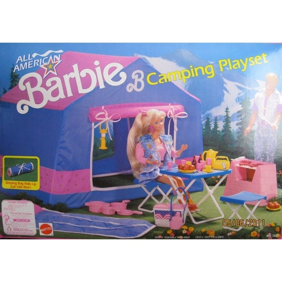 Vintage Barbie Camping Playset
