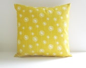 Yellow Pillow Cover Dandelion Pillow Nursery Pillow 8 Size Choices Cushion Cover