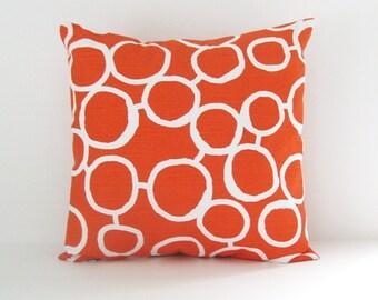Orange Pillow Cover Decorative Pillow Size Choice Throw Pillow