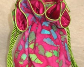 Fuschia Batik travel Jewelry Bag Pouch