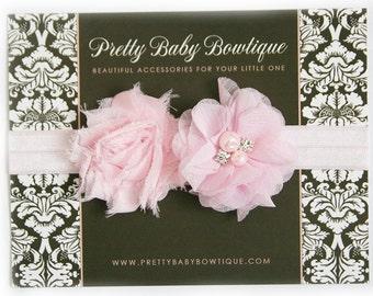 Baby Headband - Infant  Pink Headband -  Pink Headband - Girl Headband - Photography Prop