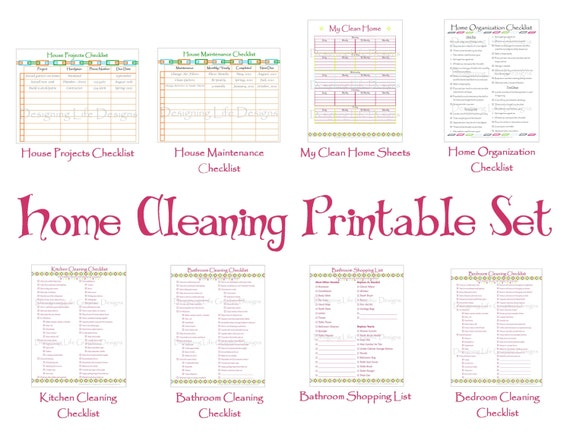 Cleaning Schedule Printable Set Keep your House by ...