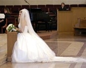 Custom Handmade 1, 2, or 3 Tier Cathedral Veil Bridal Wedding Starting At Only 39.99