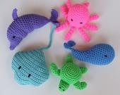 Amigurumi Crochet Pattern, Beach Toys Digital Download