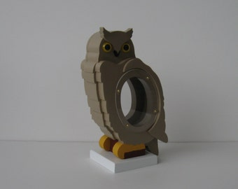 Wood Piggy Bank - Owl