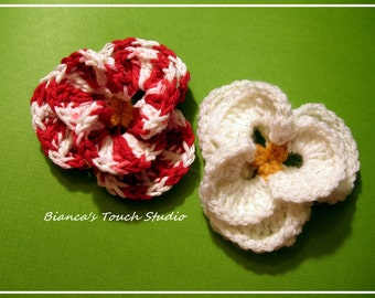 INSTANT DOWNLOAD Crochet Pattern, Tutorial instructions in PDF format. Imperial pansy