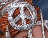 Boho Gift, Boho Jewelry Gift Idea, Sterling Silver Boho Wrap Bracelet, Boho Leather Wrap Boho Bracelet, Bohemian Gift Idea Boho Jewelry Gift
