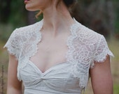 Penelope | Cap sleeve Lace wedding jacket