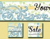 new -- LOAFING ------ Premade Etsy Shop Banner Avatar Set - One Of A Kind (ooak) & Fabulous - by Accentuate