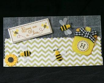 Checkbook Cover Handmade Clear Vinyl Queen Bee Design