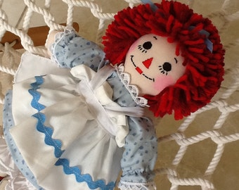 "10"" Raggedy Ann Doll - Pick you Color Dress - Personalization Available"