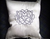 Discontinued!! SALE!! Celtic Heart Knot Ring Pillow SMALL - Celtic Wedding Collection