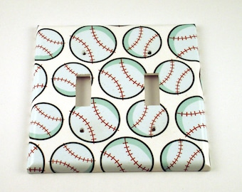 Baseball Wall Decor Decorative Switch Plate Light Switch Cover  Double  Switchplate  in  Home Run (160D)
