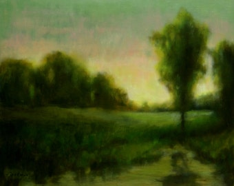 Original Oil Painting DAWN'S LIGHT 16x20