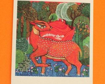 Golden Deer MINI Print