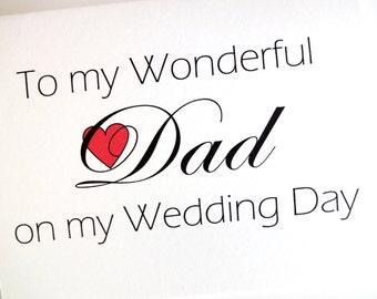 Dad Wedding Card - Wedding Thank You for Dad Card