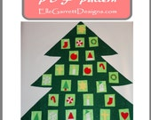 PDF Pattern - Christmas Tree Advent Calendar - No Sew project