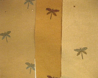Pindler Camden Place Perdita Dragonfly Designer Fabric Samples 3 pc LOT