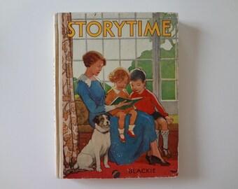 1940s Vintage Children's Book Storytime Blackie & Son England WWII - EnglishPreserves