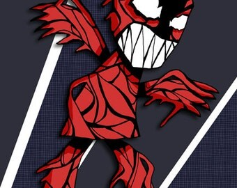 Carnage Art Illustration Spiderman Print
