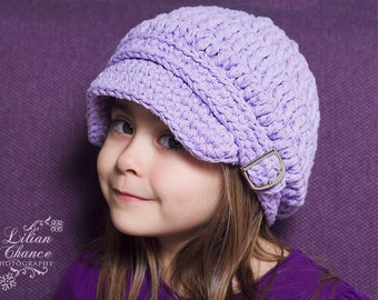Toddler Girl Newsboy Hat 1T - 2T Toddler Newsboy Cap Lavender Newsboy Light Purple Newsboy Toddler Hat Toddler Girl Clothes Toddler Clothing