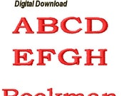 """Bookman Embroidery Font 4"""" - 1 Size - pes files"""