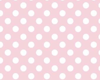 Riley Blake Designs, Medium Dots in Baby Pink (C360 75)