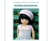 "59. English and  French INSTANT DOWNLOAD PDF knitting Pattern 13"" dolls Little Darling, Narsha, Zihu"