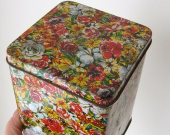 Cottage Garden Chic Rusty Tin Box