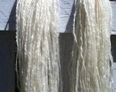 Custom listing for Karen for 2.4 oz/102 yds of Pearl - handspun handprocessed organic Wensleydale yarn