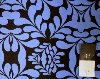 Mark Cesarik MC13 Morning Tides Diamond Leaves Royal Cotton Fabric 1 Yd