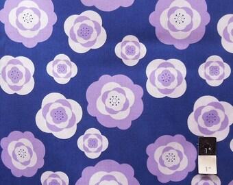 Eleanor Grosch PWEG014 Imperial Pheasant Peonies Purple Cotton Fabric 1 Yd