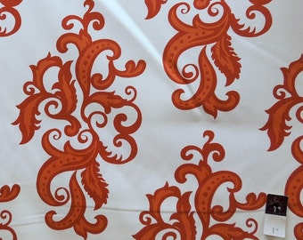 Vickie Payne HDVP09 HOME DECOR For Your Home Swirls Orange 1 Yard