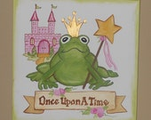REDUCED -Once Upon A Time Princess Painting