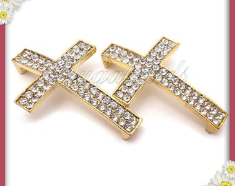 1 Gold Crystal Cross Connector