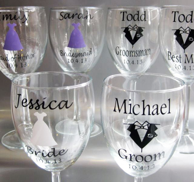Wine Glass Custom Vinyl Stickers Custom Vinyl Decals - Wine glass custom vinyl stickers