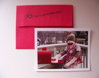 Exclusive Monkey Moments Sock Monkey Valentines Day Card H1
