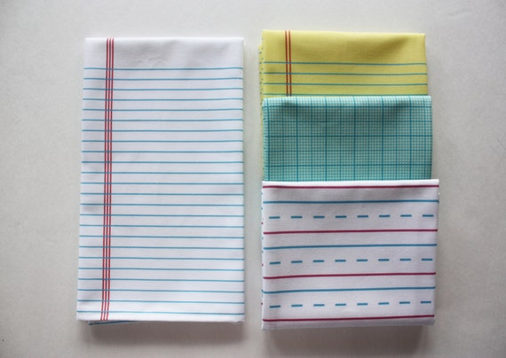 White Lined Paper Tea Towel