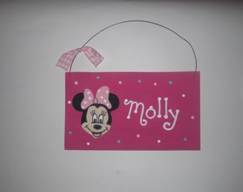 Minnie Mouse Wall Hanging - Personalized
