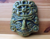 70s Mexican Aztec Mayan Mask Tiki God Paper Weight