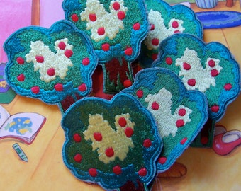six fun and cute apple tree appliques
