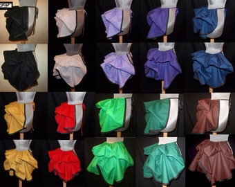 Half Price Sale - Choose Colors - Mini Add a Bustle Skirt w/ Trim by LoriAnn Costume Designs Great For Victorian, Dance, Theater, Burlesque