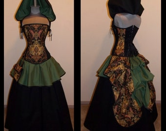 Scandalous Traveler with Pouch Steampunk Full Bustle Gown Costume - Custom - by LoriAnn Costume Designs