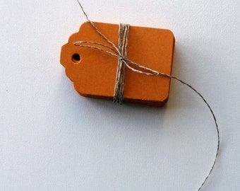 medium size orange matte plain heavy card price hang gift tags