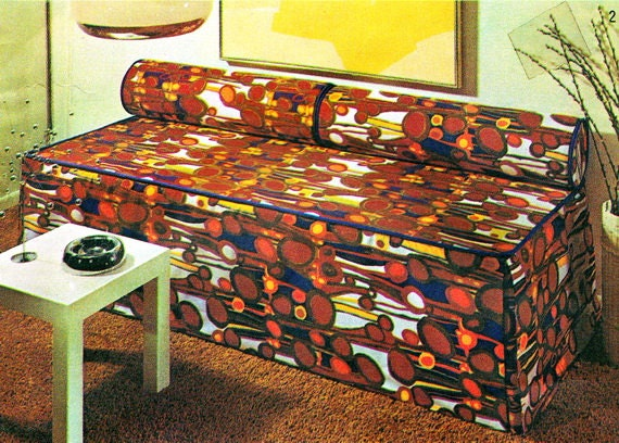 Simplicity 5552 1970s Twin Bed Or Day Bed Slipcover By