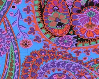 Kaffe Fassett PAISLEY JUNGLE Purple GP60 Quilt Fabric - by the Yard, Half Yard, or Fat Quarter