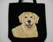 Reuseable Canvas Tote with a Golden Retriever Dog