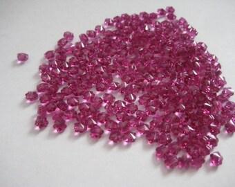 Lot of 30 5mm Fuchsia Swarovski Flower Beads Art. 5744