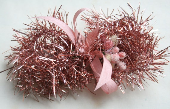 Easter pink soft tinsel garland and sweet by